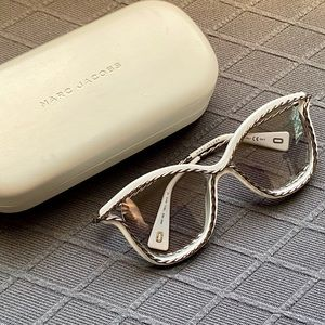 Marc Jacobs White Silver Twist Sunglasses
